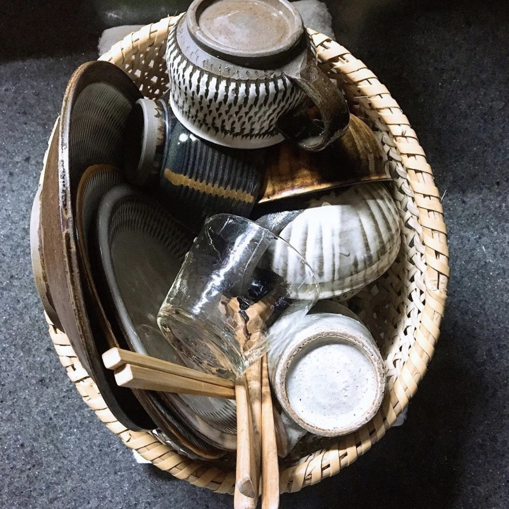 小鹿田焼の器